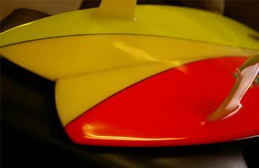サーフボード:テール部の画像