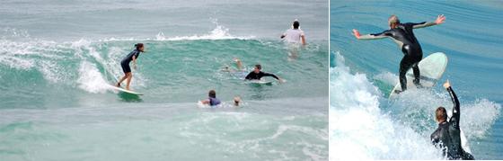 サーフィンのマナー:ピークが優先
