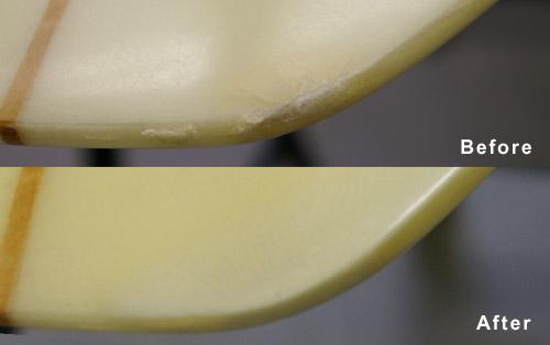 剥離やダメージが深い場合のリペア方法・ビフォーアフター画像