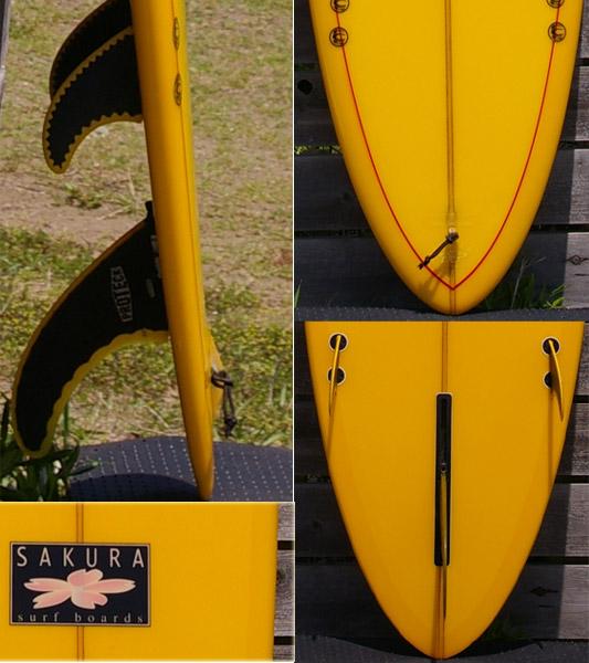 SAKURA SURF BOARDS ロングボード テール・フィン bno9629009c