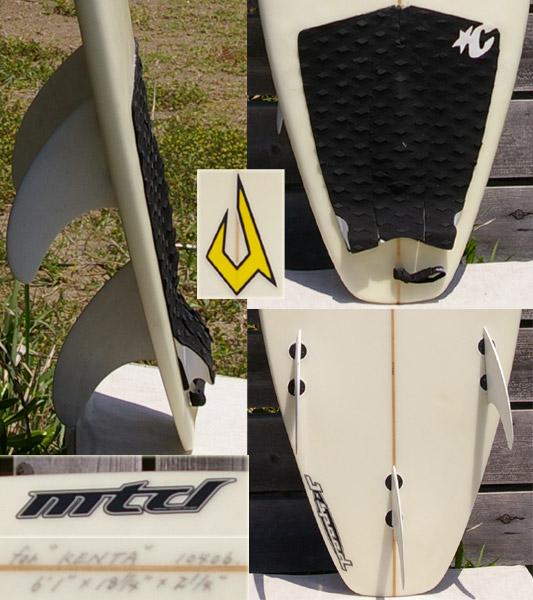 JUSTICE mtd  J-speed ショートボード フィン・テール bno9629016c