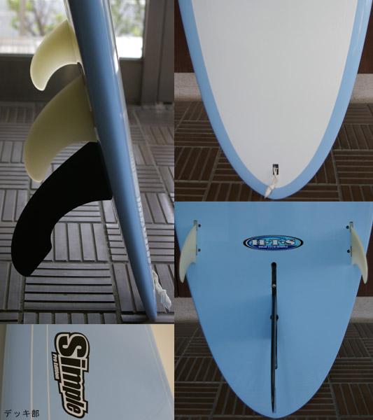 SIMPLE Pro Edition 9.0f ロングボード フィン・テール bno9629044c