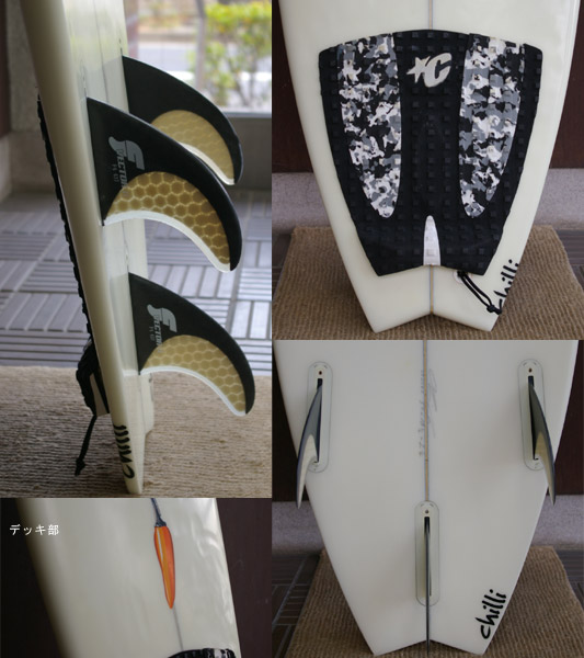 chilli ショートボード フィン・テール bno9629102c