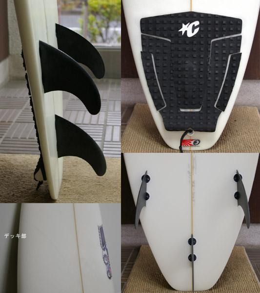 JS BRUCE IRONS JAPAN MODEL 中古ショートボード フィン・テール bno9629112c