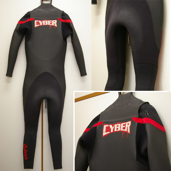 Cyber サイバーセミドライ 中古ウェットスーツ リア部 bno9629119b