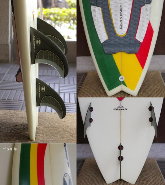 cheer's 中古ショートボード fin/tail bno9629121c