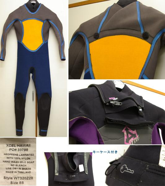 XCEL フル・ウェットスーツ Ladies' ディテール bno9629140c