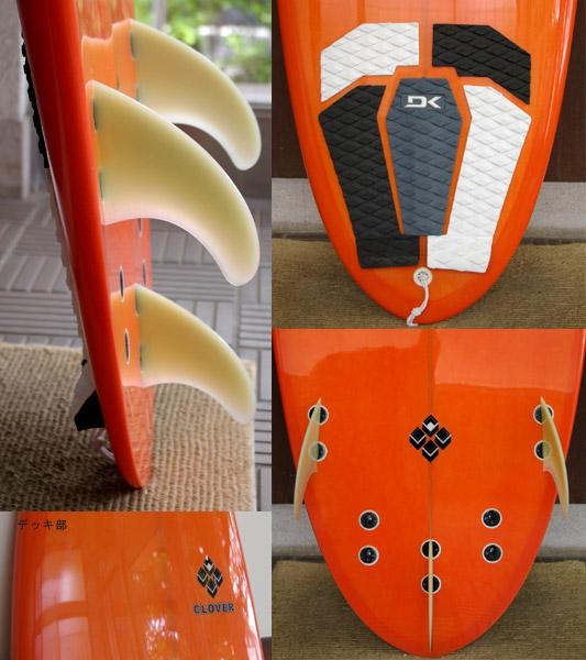 CLOVER SPOON5 トランスフォーマー ミニボード5`6 fin/tail bno9629166c