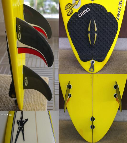 WALLIN 中古ショートボード fin/tail bno9629186c