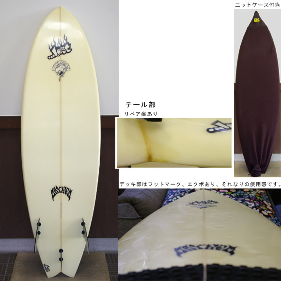 LOST ROUND NOSE FISH 中古ショートボード bottom bno9629192b