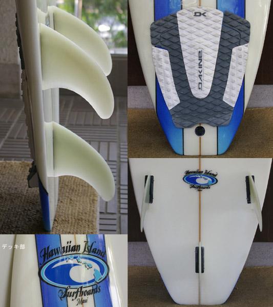 Hawaiian Island 中古ショートボード fin/tail bno9629208c