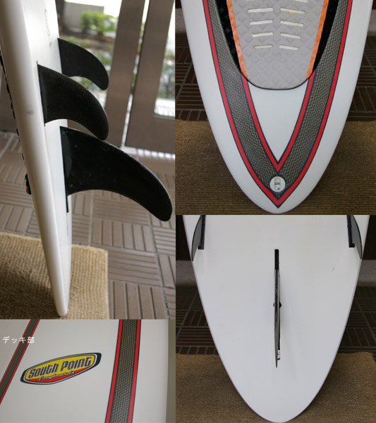 SOUTH POINT 中古ロングボード9`6 fin/tail bno9629219c
