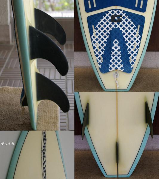 ABRAXAS 中古ショートボード fin/tail bno9629224c