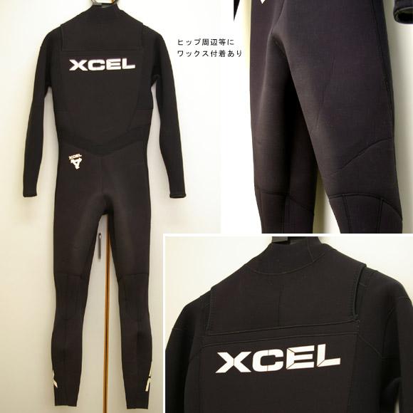 XCEL フルスーツ 中古ウェットスーツ リア部 bno9629240b