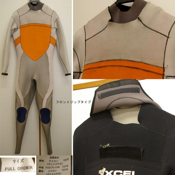 XCEL フルスーツ 中古ウェットスーツ ディテール bno9629240c