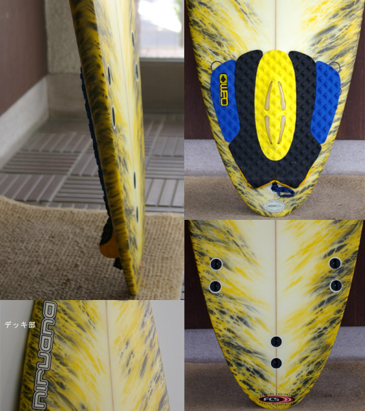 NIRVANA  中古ショートボード fin/tail bno9629269c