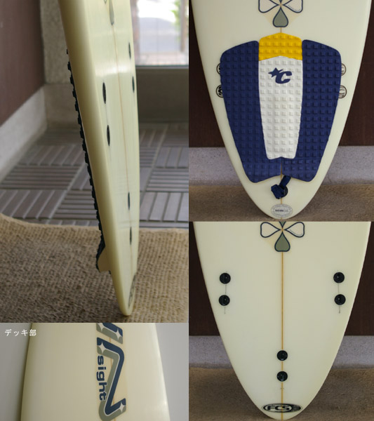 INSIGHT 中古ショートボード fin/tail bno9629270c