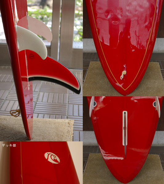 QUIKSILVER 中古ロングボード fin/tail bno9629271c