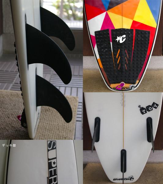 SUPER BRAND / SUPER Model 中古ショートボード fin/tail bno9629295c
