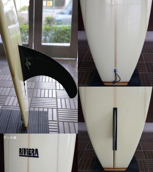 RiViERA 中古ロングボード fin/tail bno9629310c