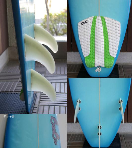 BOOBS 中古ショートボード fin/tail bno9629322c