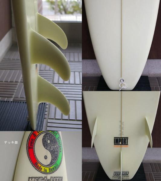 T&C / CHRISTIAN FLETCHER MEGA-LITE 中古ショートボード fin/tail bno9629329c