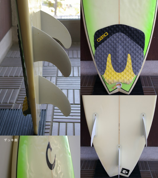 Carroll  中古ショートボード fin/tail bno9629342c