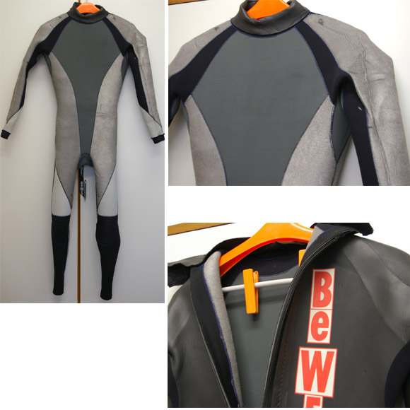 BEWET SUPER WARM 5/3mm セミドライ 中古ウェットスーツ detail bno9629343c