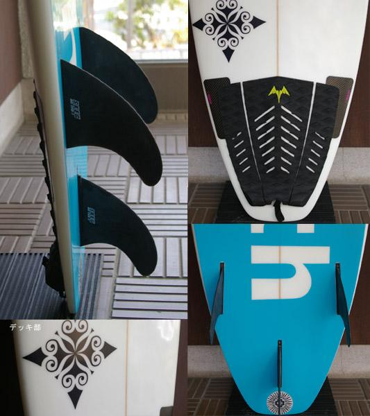 YOSH 中古ショートボード fin/tail bno9629351c