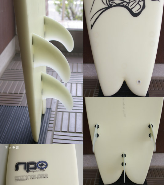 NEAL PURCHASE STRINGER LESS 中古ショートボード fin/tail bno9629361c