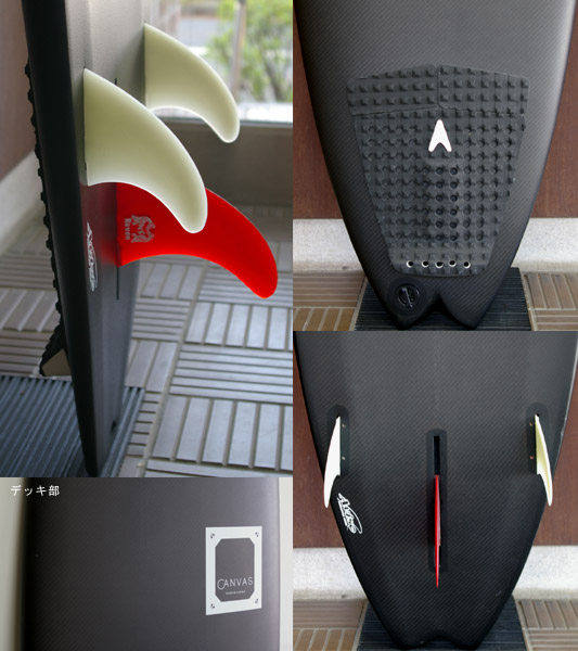 AVISO CANVAS Mini Noserider 中古ファンボード 5`12 fin/tail bno9629386c