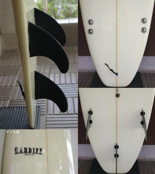 CARDIFF 中古ファンボード 6`11 fin/tail bno9629395c