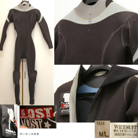 LOST 女性用フルスーツ 中古ウェットスーツ detail bno9629402c
