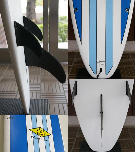ZACK & KITTY (NO BRAND) 中古ロングボード fin/tail bno9629433c