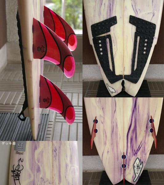 TAKE'S 中古ショートボード  fin/tail bno9629434c