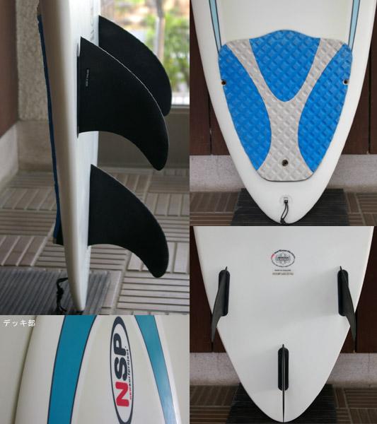 NSP 中古ファンボード 6`8 fin/tail bno9629459c