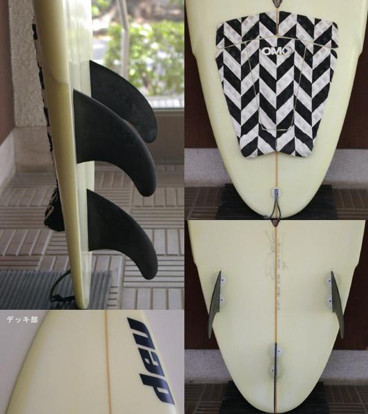 dev 中古ショートボード 5`10 fin/tail bno9629468c
