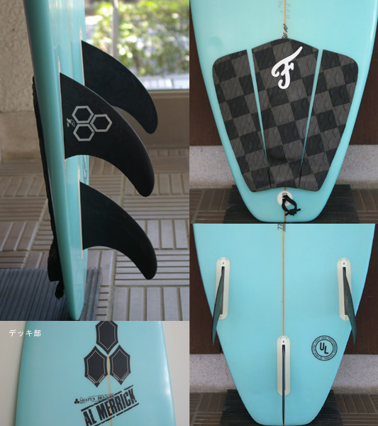 AL MERRIC TPH 中古ショートボード fin/tail bno9629471c