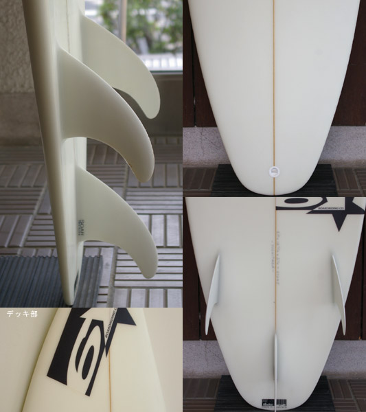 SIX STAR 中古ショートボード fin/tail bno9629490c