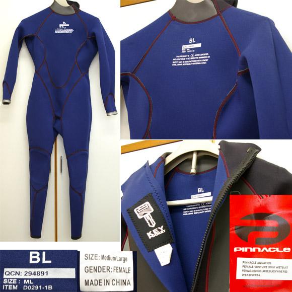 Pinnacle フルスーツ 中古ウェットスーツ  detail bno9629501c