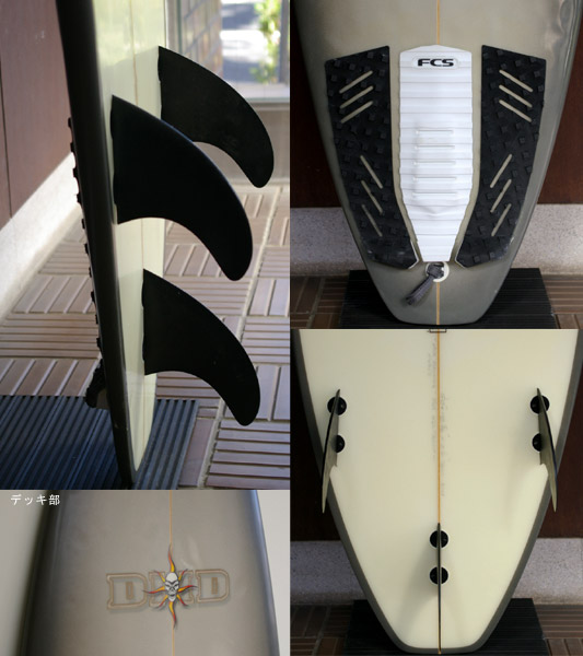 DHD / MICK FANNING JAPAN MODEL中古ショートボード fin/tail bno9629504c