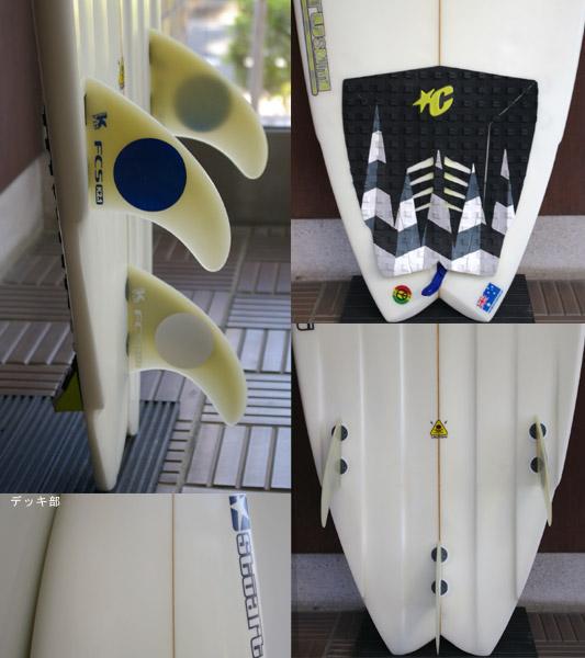 STUART 中古ショートボード 5`9 fin/tail bno9629507c