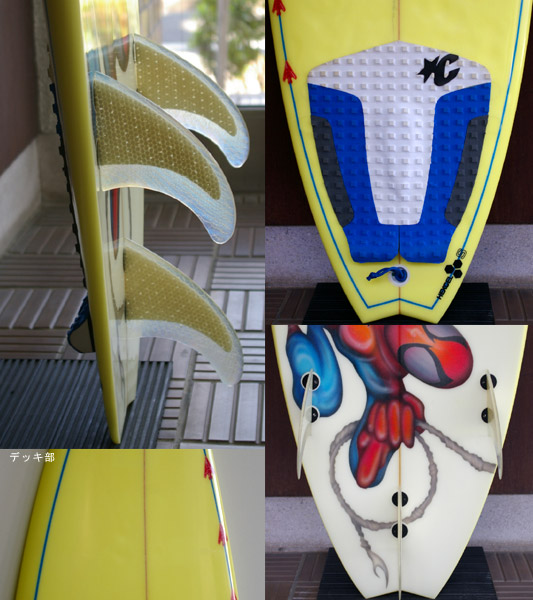 GULL SURFBOARD 中古ショートボード fin/tail bno9629508c