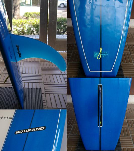 NO BRAND 中古ロングボード 9`6 fin/tail bno9629521c