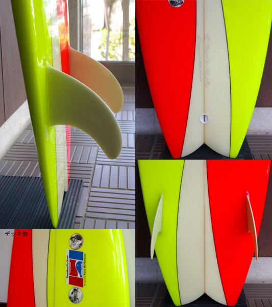 HPD DONALD TAKAYAMA / LARRY BERTLEMANN MODEL 中古レトロツイン 5`8 fin/tail bno9629527c