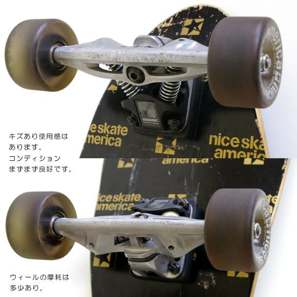 NICE SKATE AMERICA RIDE-2 中古スケートボード ウィール・トラック bno9629533c