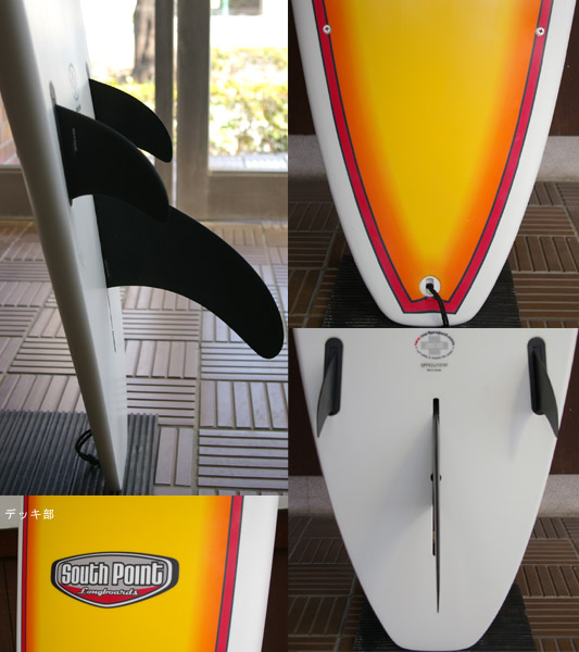 SOUTH POINT EPOXY 中古ロングボード 9`2 fin/tail bno9629547c