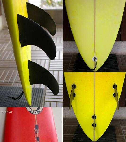 タウンアンドカントリー G.PANG 中古ガンボード 6`8 fin/tail bno9629549c