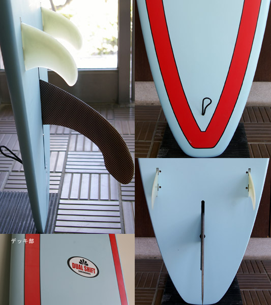 DUAL SHIFT EPOXY 中古ロングボード 9`1 fin/tail bno9629552c