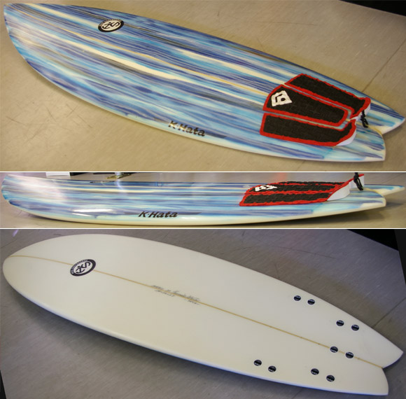HATA SURFBOARD 5FIN 中古ショートボード  detail bno9629554d